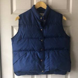 VTG LL Bean blue down puffer vest